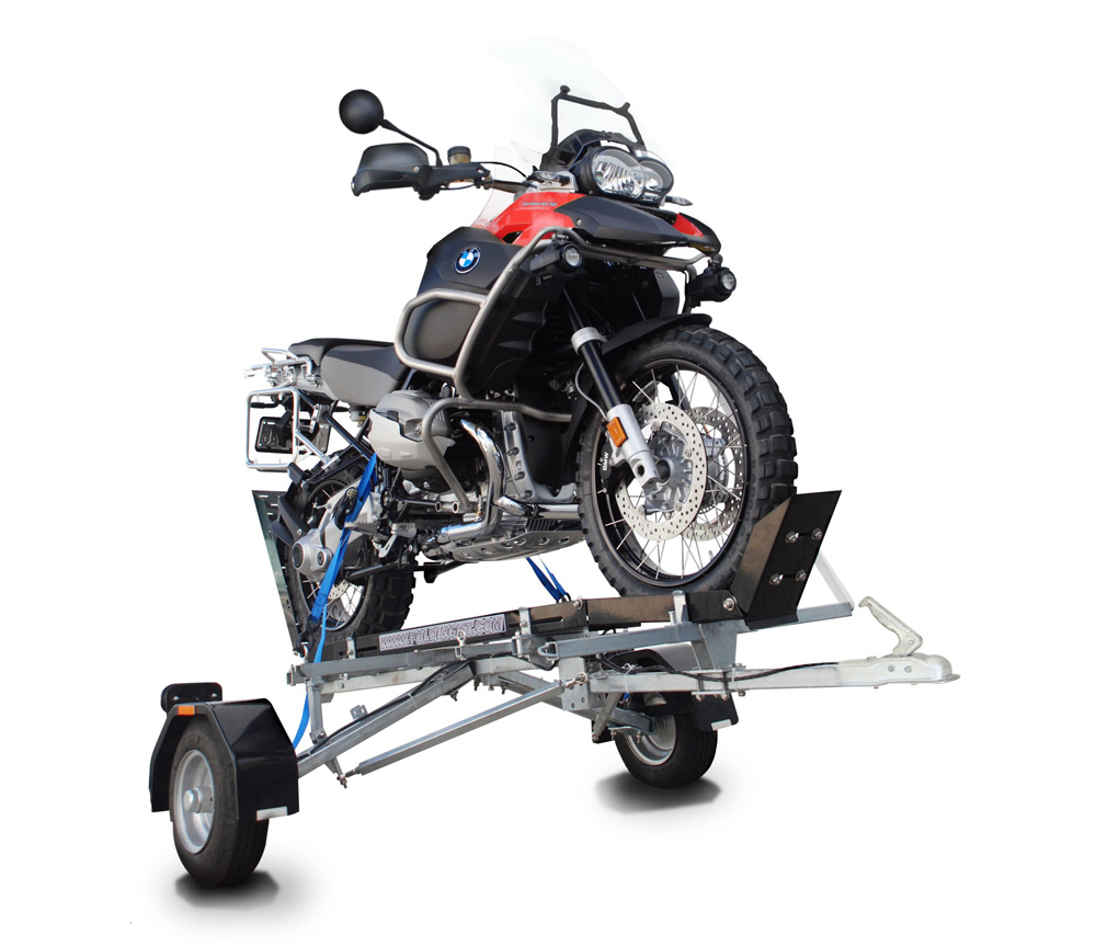 trailer motorcycle folding single trailers track bulldog parts bike unique detail motorbike customized rail return cart