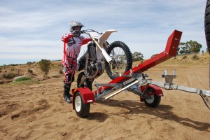 Loading Bulldog Folding Motorcycle Trailer Single Track