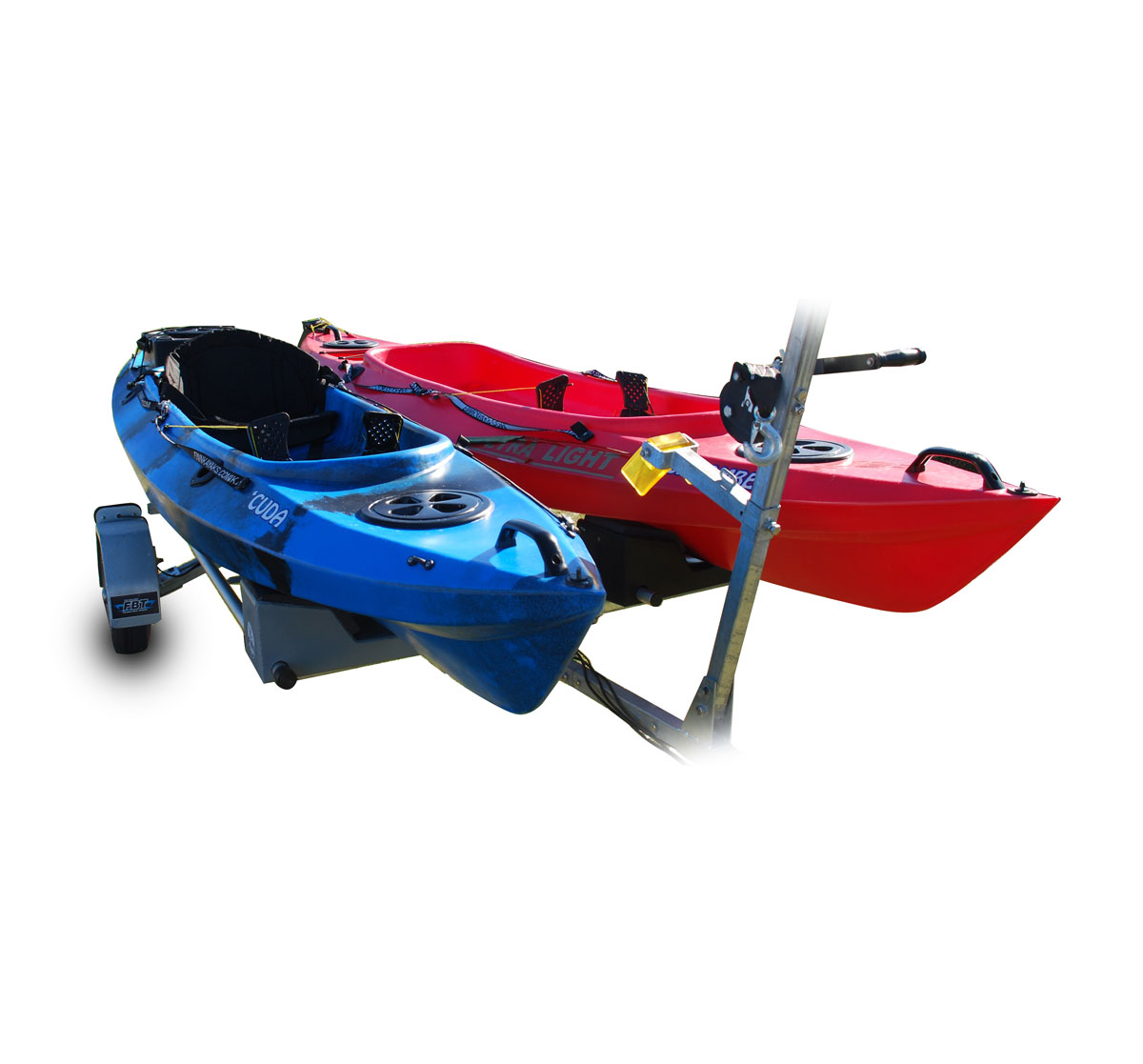 Folding Kayak / Canoe Trailer (Up to 6 Kayak's)   Bulldog Folding