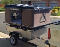 Box Top Trailer with Camper attached
