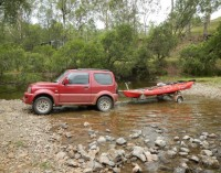Off Road with the Bulldog FBT / Kayak trailer