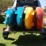 Folding Multi-use Trailer with kayaks 00002