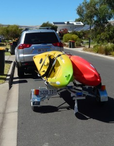 Kayak's on Bulldog Folding Trailer JPG