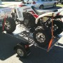 Quad on Bulldog Folding Flat Top Trailer